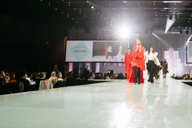 The runway at the Fashion for Compassion show